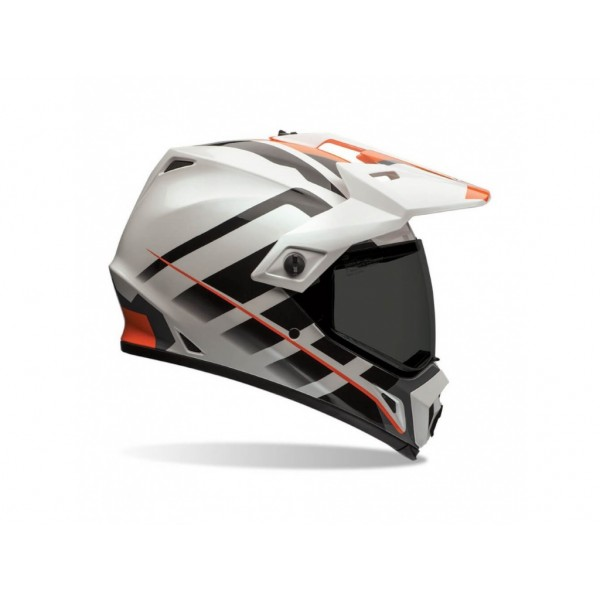 Prilba Bell MX9 Adventure Raid, orange/white